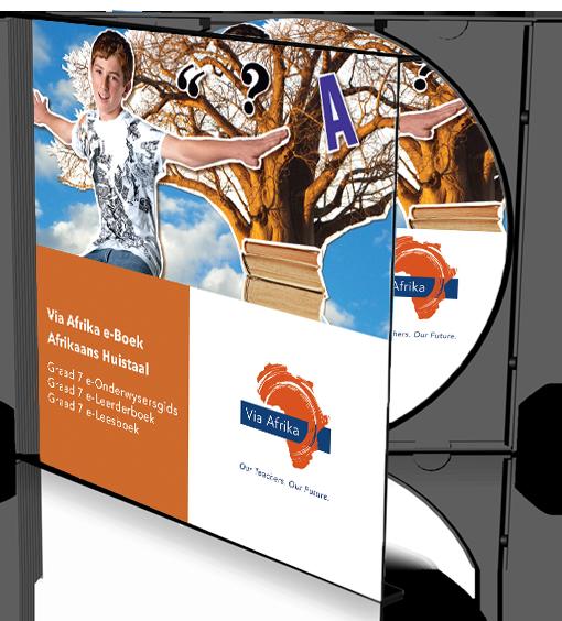 e-Boek Onderwysersweergawe op CD vir rekenaars: Via Afrika Afrikaans Huistaal Graad 7 Onderwysersgids en Leerderboek