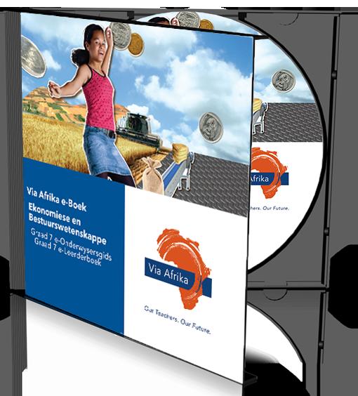 e-Boek Onderwysersweergawe op CD vir rekenaars: Via Afrika Ekonomiese en Bestuurswetenskappe Graad 7 Onderwysersgids en Leerderboek