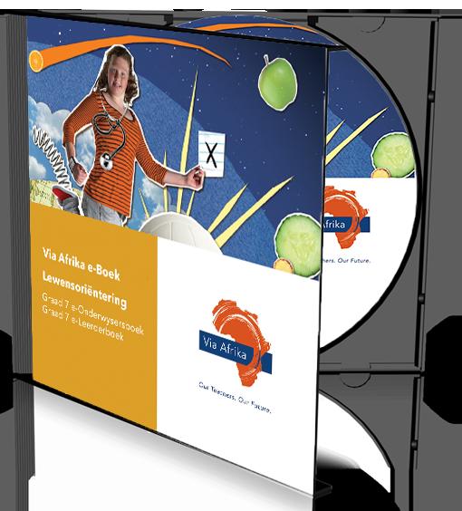 e-Boek Onderwysersweergawe op CD vir rekenaars: Via Afrika Lewensoriëntering Graad 7 Onderwysersgids en Leerderboek