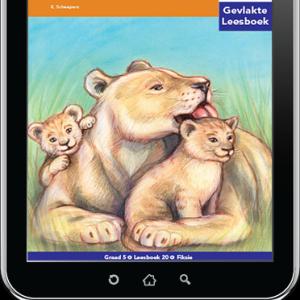 e-Boek (e-PDF): Via Afrika Afrikaans Huistaal Intermediêre Fase Gevlakte Leesboek 20: Die wit leeu van Skukuza